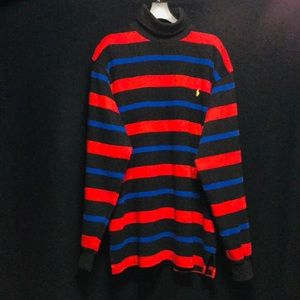 RARE vtg polo ralph lauren striped turtleneck